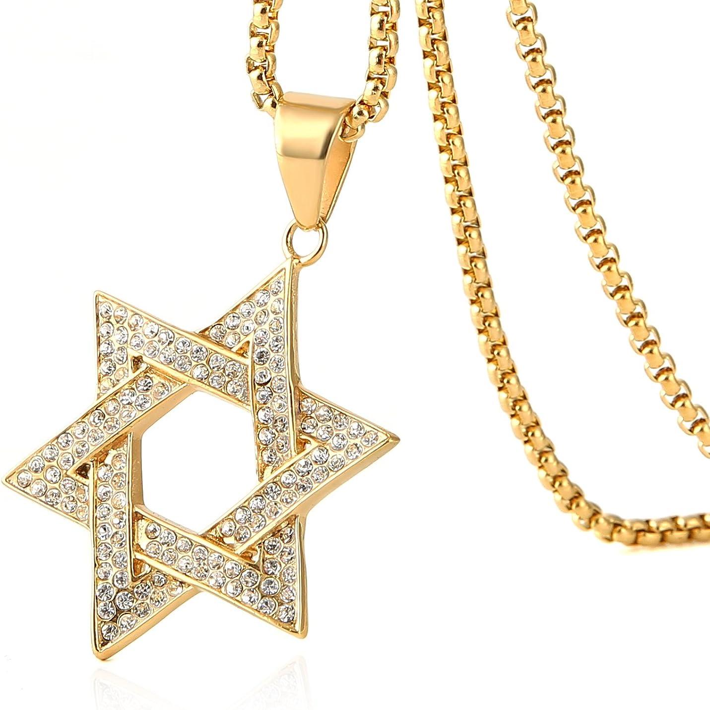 Metal Color: 50cm, Main Stone Color: Gold Color Davitu European Style Bullet Pendant Necklace Hip Hop Jewelry Mens Stainless Steel Gold Color Cross Necklaces Collier