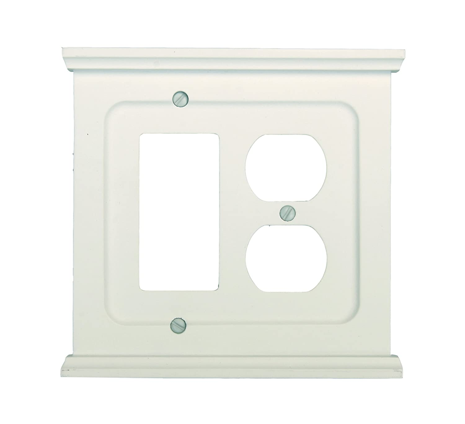 Amerelle 178dw Mantel Composite Wood Wall Plate White Plates Light Switchplates Outlet Covers Switch Wallplates