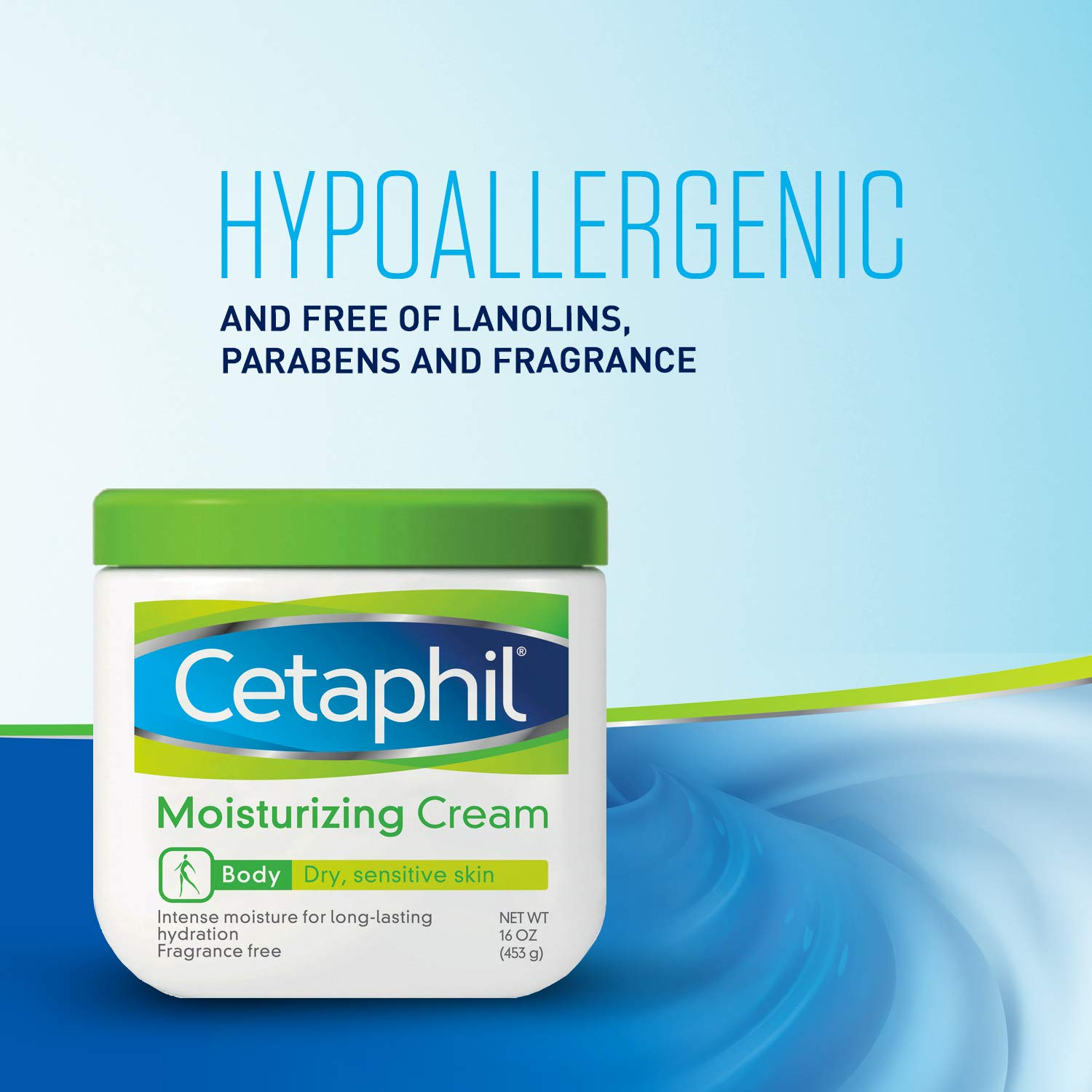 Cetaphil Moisturizing Cream for Very Dry/Sensitive Skin, Fragrance Free, 16 Ounce, Pack of 3 by Cetaphil (Image #5)
