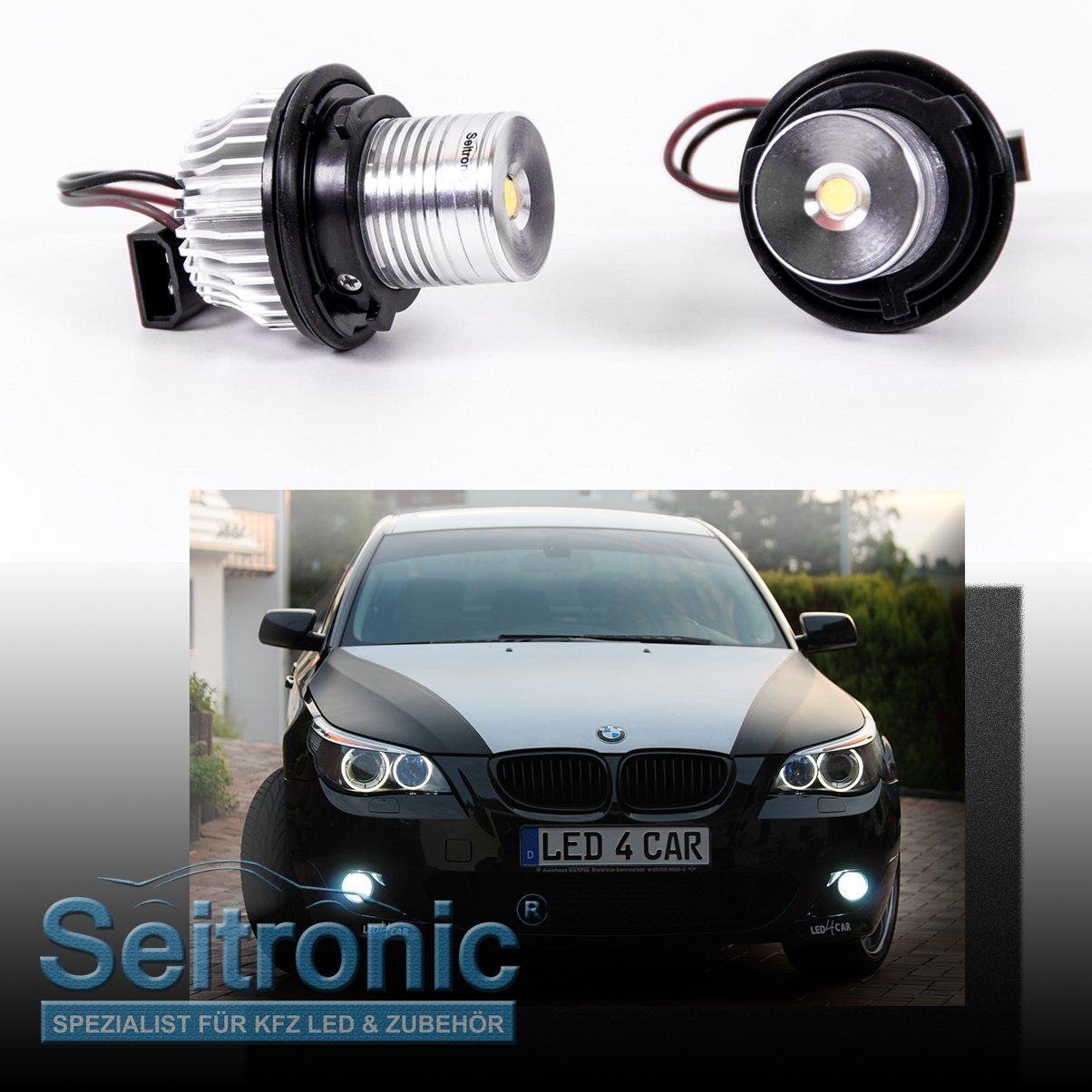 Burner Light Xenon White No Error Message With Long Life And Parking Light Use. Seitronic LED Angel Eyes Efficient 5/Â Watt and a Thickness of 8000/â Kelvin