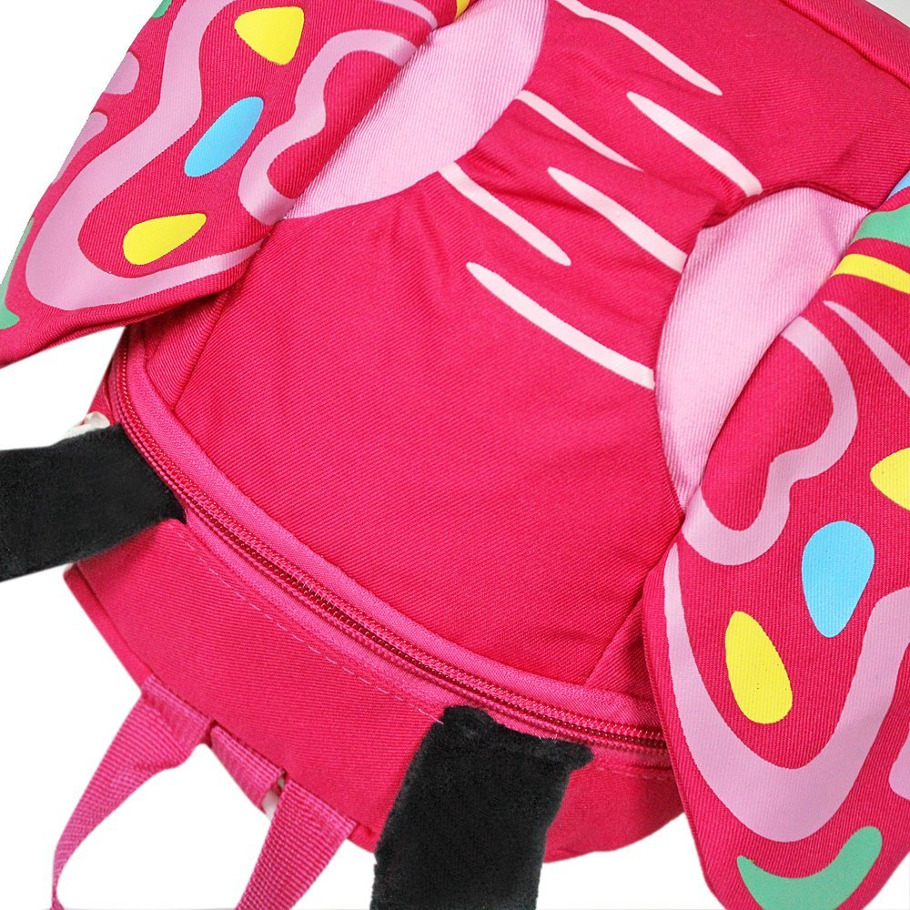 GinTai Canvas Butterfly Kid's Backpack Rose Red by GinTai (Image #4)
