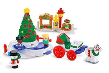 Fisher-Price Little People Christmas Tree Lighting in Discovery ...