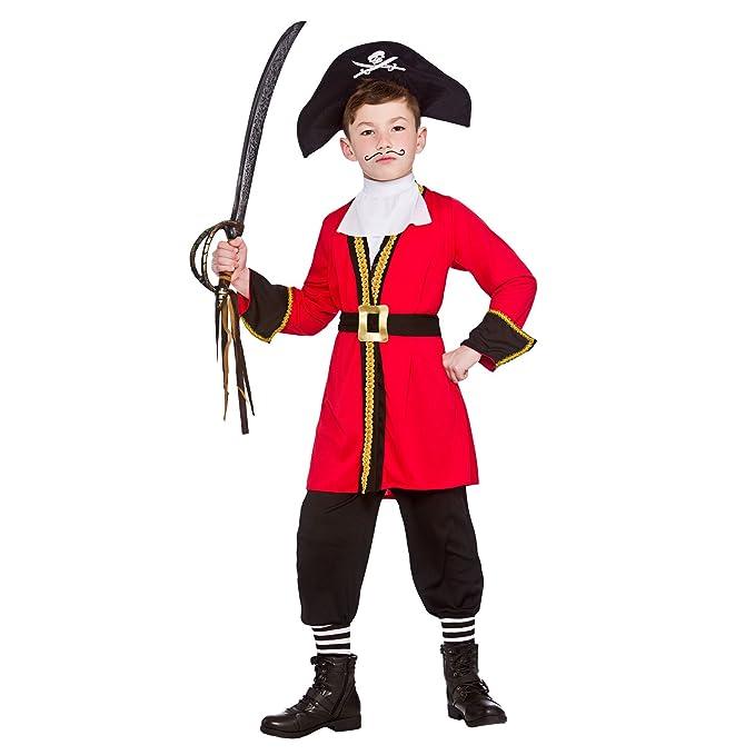Niño Capitán Pirata Fancy Dress Costume - pequeño XL - 11/13 ...