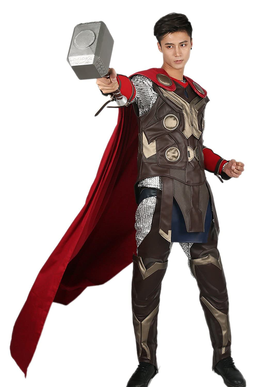 Amazon.com: Deluxe Thor Cosplay Costume Outfit Suit for Mens ...