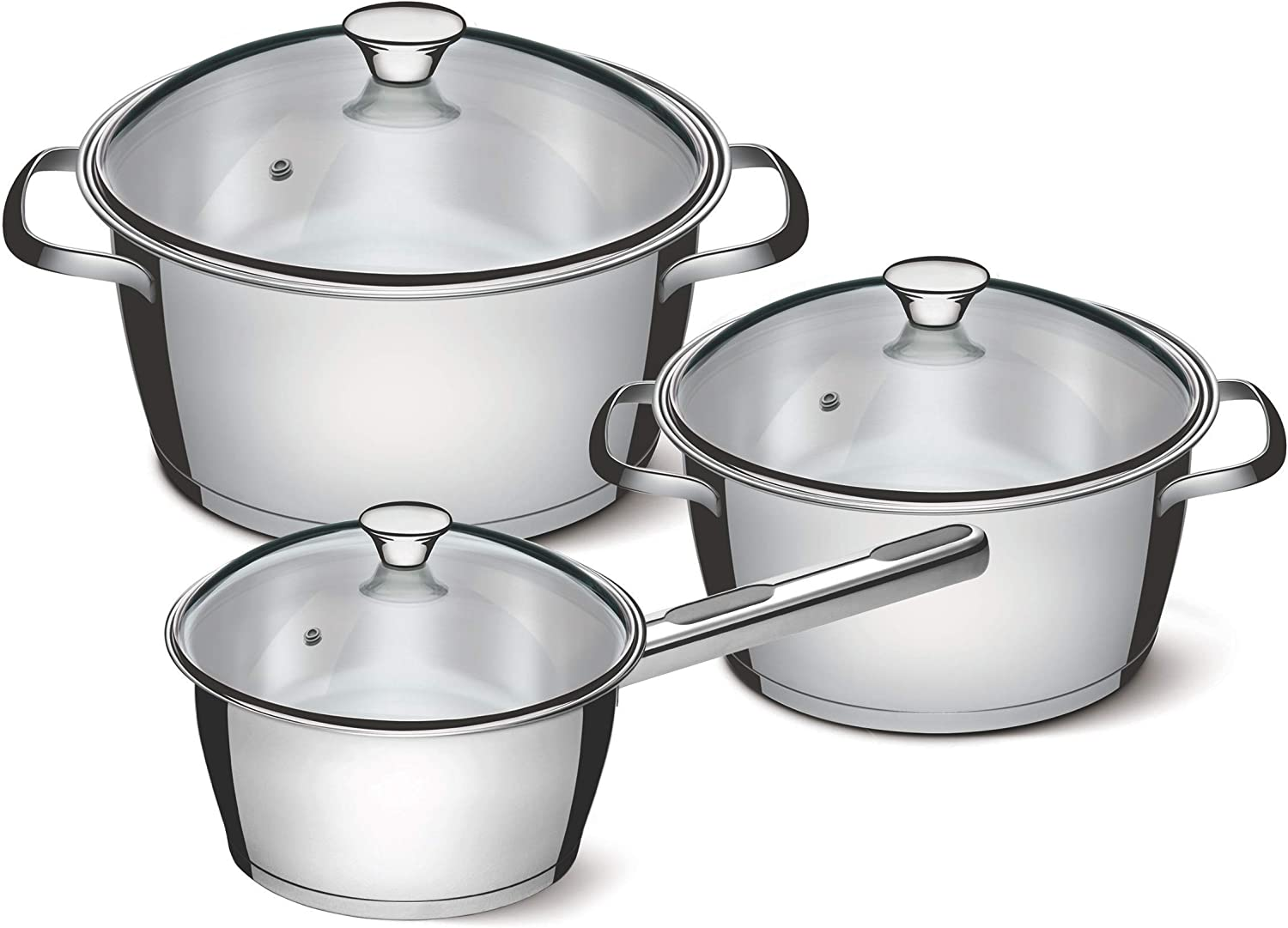 Tramontina 65660/484 Cookware Set, Stainless Steel