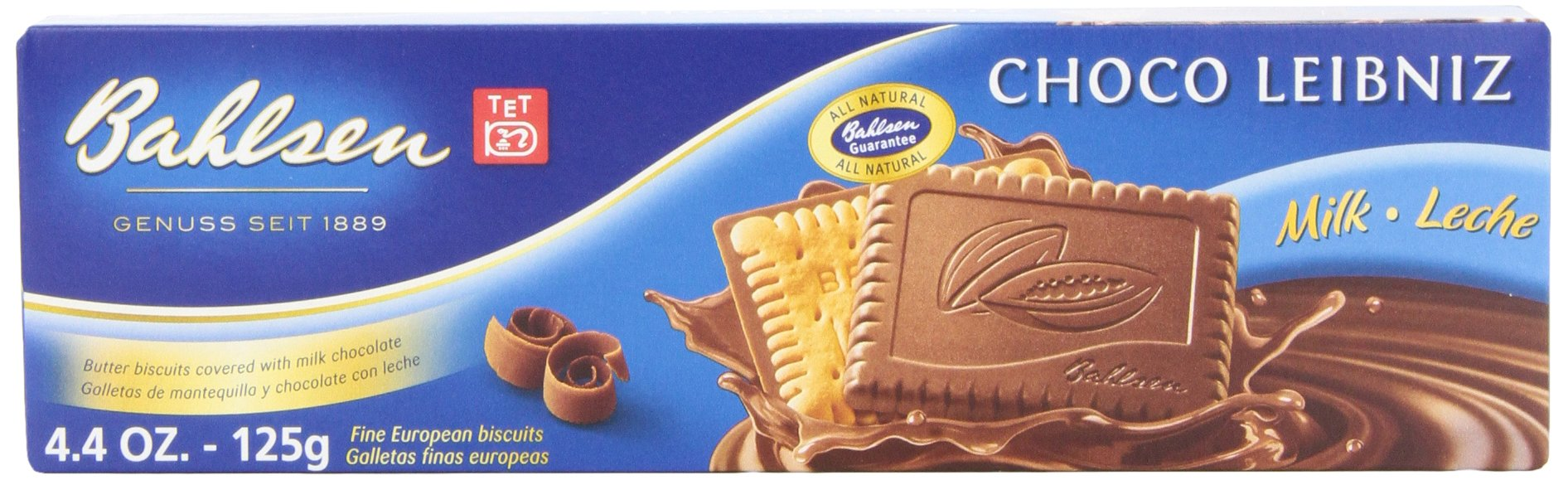 Bahlsen Leibniz Milk Chocolate Cookies, 4.4-Ounce Boxes (Pack of 12)