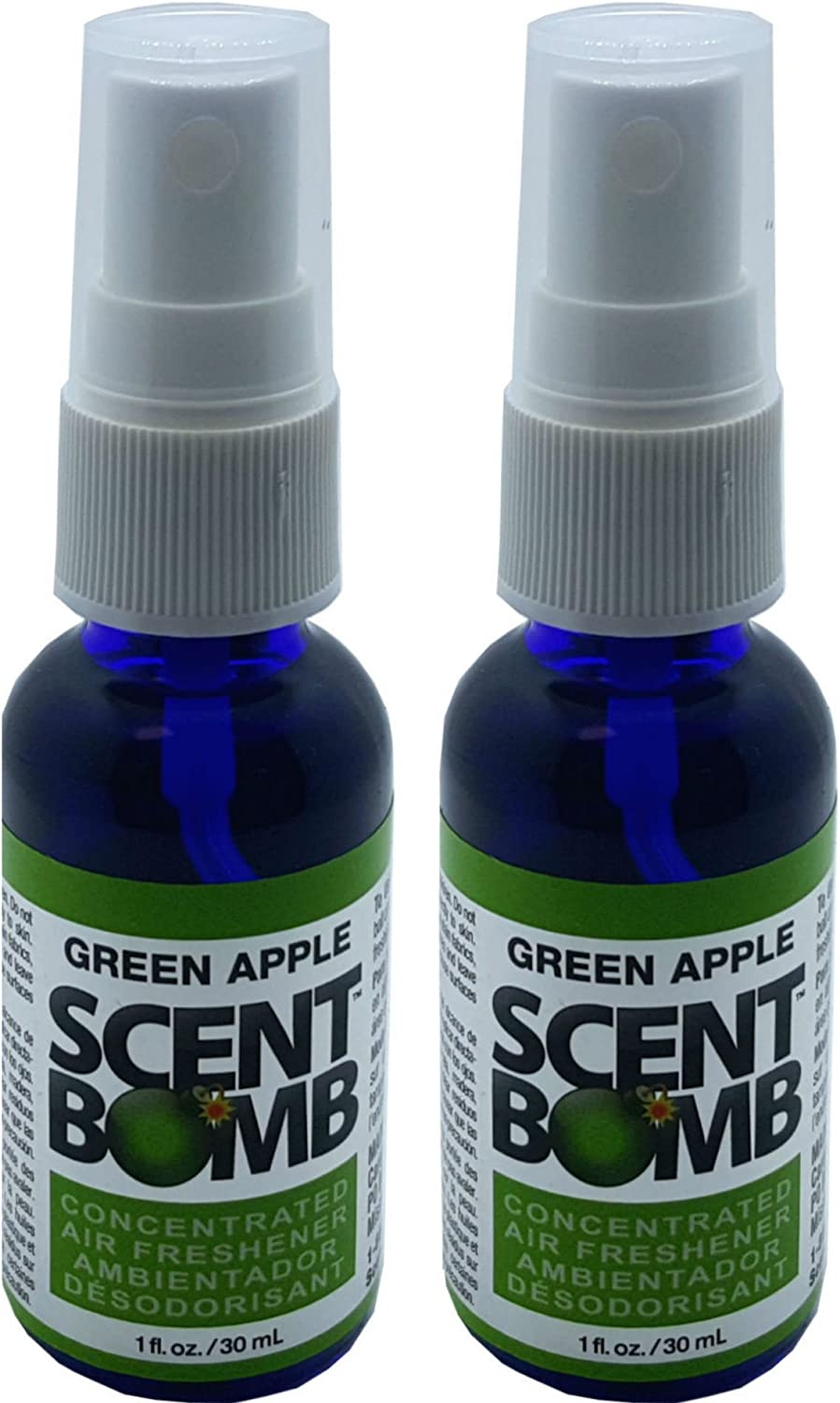 Scent Bomb Super Strong 100% Concentrated Air Freshener - 2 PACK (Green Apple)