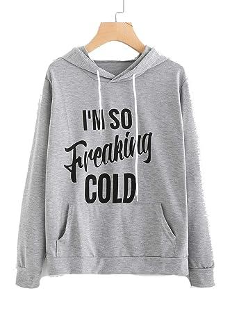 ff725ddcb9b Amazon.com: FCYOSO Women Graphic Hoodies Drawstring Casual Long Sleeve  Sweatshirts: Clothing