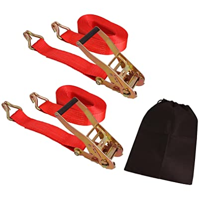 "CARTMAN 2"" x 27' Heavy Duty Ratchet Tie Down up to 10,000 lbs 2pk in Carry Bag, Cargo Straps: Automotive"