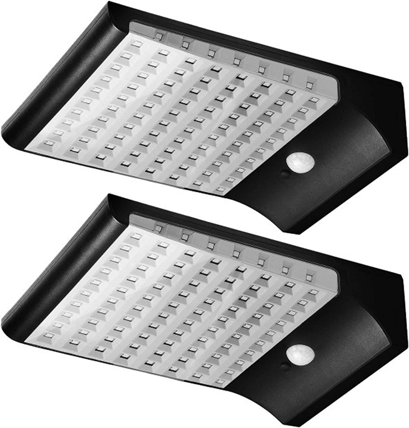 Solar Motion Sensor Lights Outdoor 94 LED JACKYLED Solar Lights 1500LM Super Bright Solar Powered Security Light with 270°Wide Angle for Patio Garden Gutter Porch Garage Pathway Barn 2-Pack Black