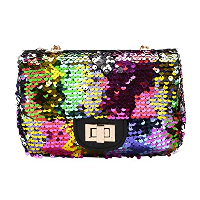 33f60f3f2f Image Unavailable. Image not available for. Color  Bags Handbags Women  Famous Brands Girl Fashion Crossbody Bag Female Bling Sequins Shoulder Bags  Bolsas ...