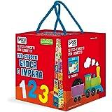 Gioca e impara. Numeri, forme, colori, animali. Eco-cubotti. Ediz. a colori. Con libretto
