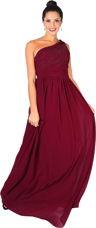 KRISP Damen Elegante Eintr/ägerkleider Chiffon Abendkleid Brautjungfernkleider
