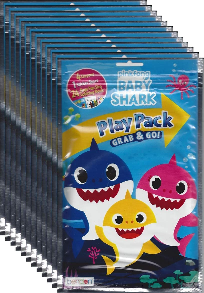 Baby Shark Pinkfong Grab and Go Play Packs (Pack of 12)