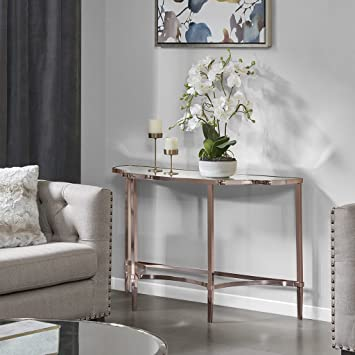 Prime Amazon Com Madison Park Signature Console Table Rose Gold Ncnpc Chair Design For Home Ncnpcorg