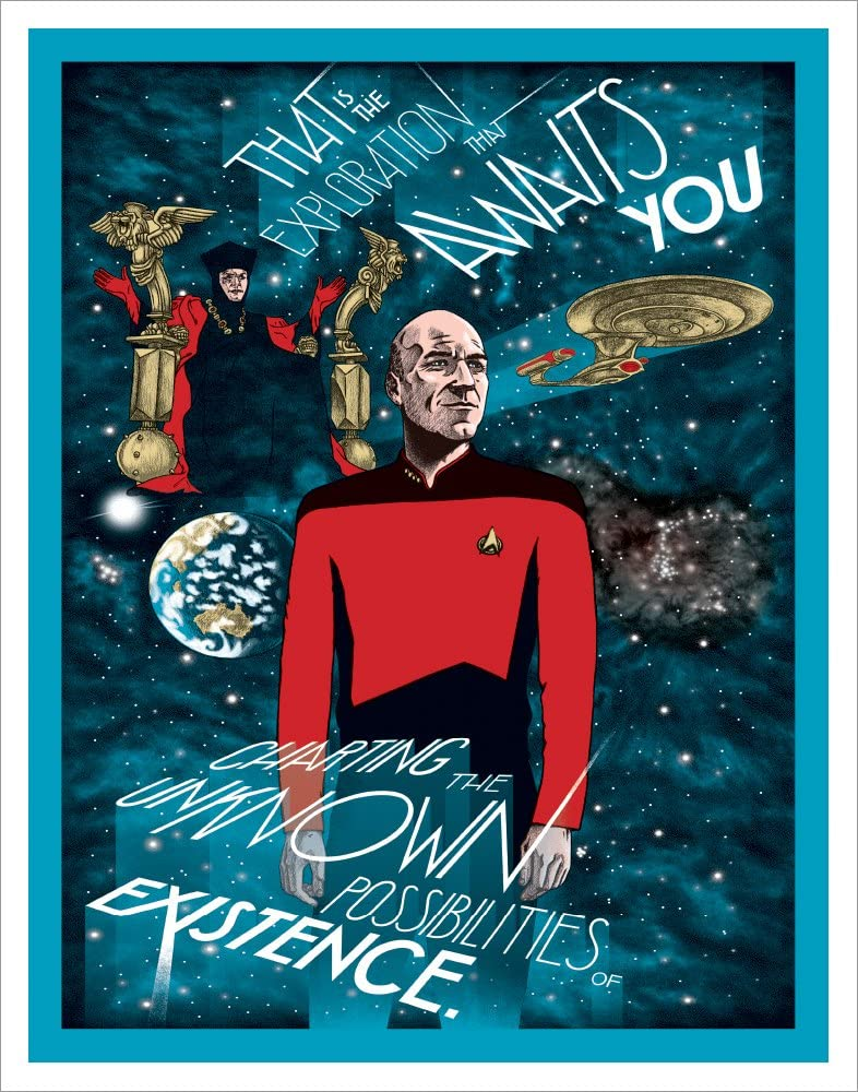 Star Trek The Next Generation All Good Things Episode (Erin Gallagher Charting Unknown Possiblities) Sci-Fi TV Television Show Print (Unframed 11x14 Poster)