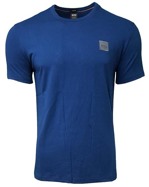 Hugo Boss . . - Camiseta - Redondo - Manga Corta - para Hombre Azul añil