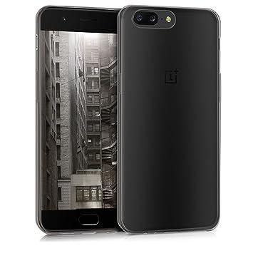 kwmobile Funda para OnePlus 5 - Carcasa Protectora de [TPU] para móvil - Cover [Trasero] en [Negro]