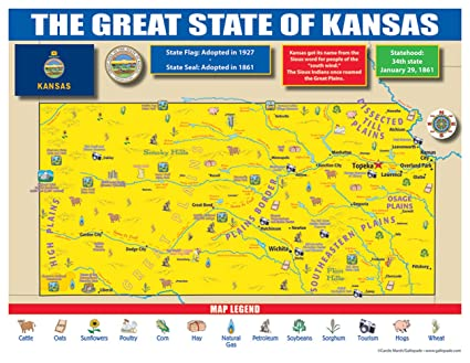 Amazon.com : Gallopade Publishing Group Kansas State Map for ... on missouri map, kansas small town map, printable kansas map, kansas interstate map, kansas elevation map, the state map, usa map, herington kansas map, colorado map, kansas lakes map, arkansas map, kansas counties map, kansas road map, kansas map with all cities, united states map, tennessee state map, kansas us map, oklahoma map, nebraska map, colby kansas map,