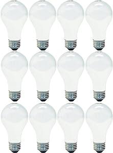 GE Lighting 63002 Soft White 29-Watt (40-watt replacement) 430-Lumen A19 Light Bulb with Medium Base, 12-Pack