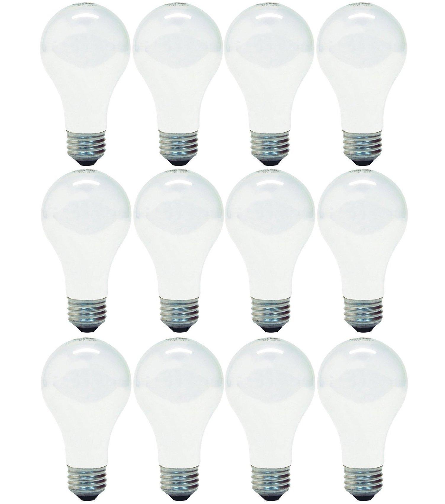 GE Lighting 63004 Soft White 53-Watt (75-watt replacement) 1050-Lumen A19 Light Bulb with Medium Base, 12-Pack
