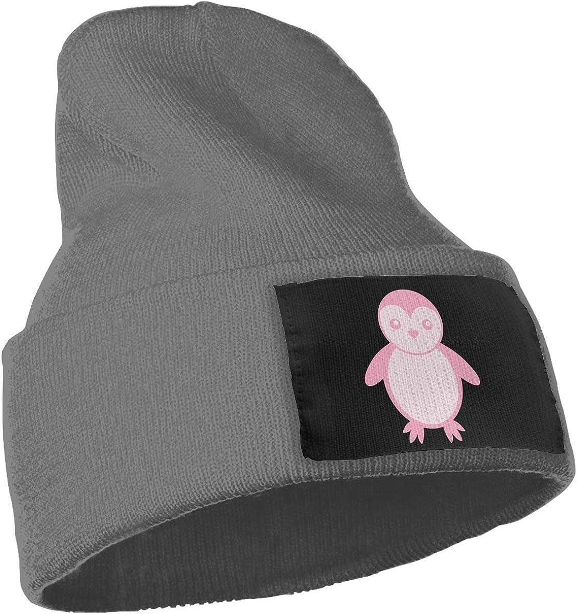 SLADDD1 Pink Penguin Warm Winter Hat Knit Beanie Skull Cap Cuff Beanie Hat Winter Hats for Men /& Women