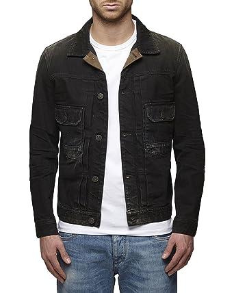 Jack Jones Vintage Denim Jacket Black X Large Amazon Co Uk