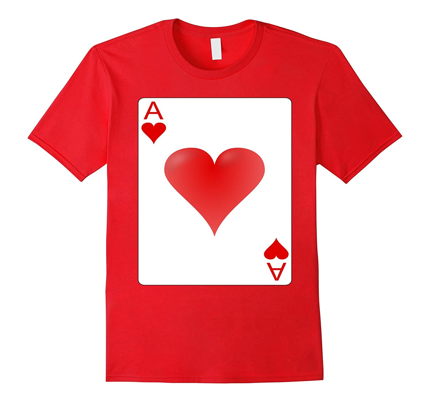 Ace of hearts playing card Halloween Group Costume T-shirt-FL