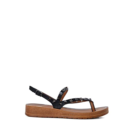 Tachuelas Mujer Sandalia Negro Plana Color Ss19 SUzqMVp