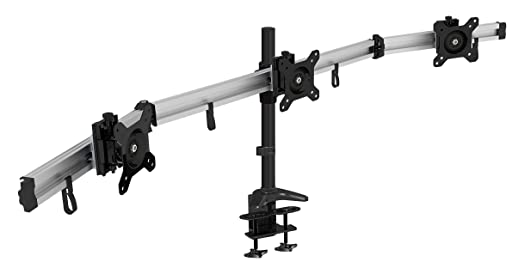 hftek triple 3 monitor desk mount stand holder bracket control center for screen monitor 15u0026quot