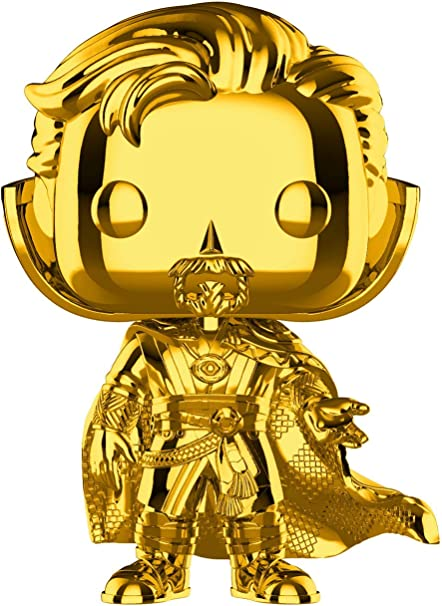 Bobble-Head Figur Doctor Strange Funko POP Doctor Strange Gold Chrome