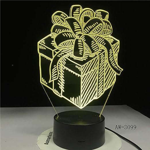 Zhuhuimin Caja LED luz Nocturna 3D ilusión táctil Sensor ...