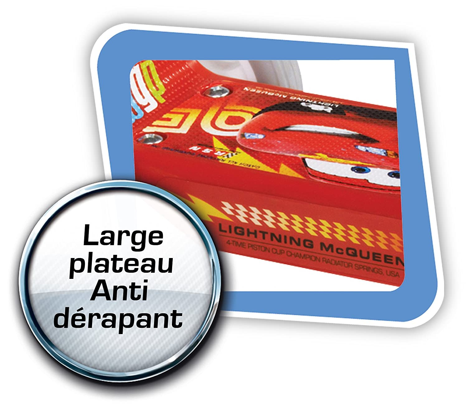 Disney J100045 Cars 2 - Patinete de 3 Ruedas, Color Rojo ...