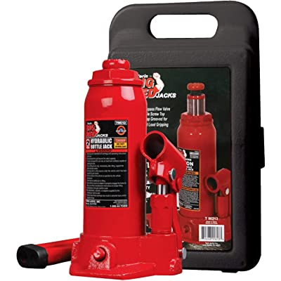 BIG RED T90213 Torin Hydraulic Welded Bottle Jack with Blow Mold Carrying Storage Case, 2 Ton (4,000 lb) Capacity: Automotive