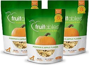 Fruitables Baked Dog Treats Pumpkin & Apple Flavor (3 Pack) 7 oz Each
