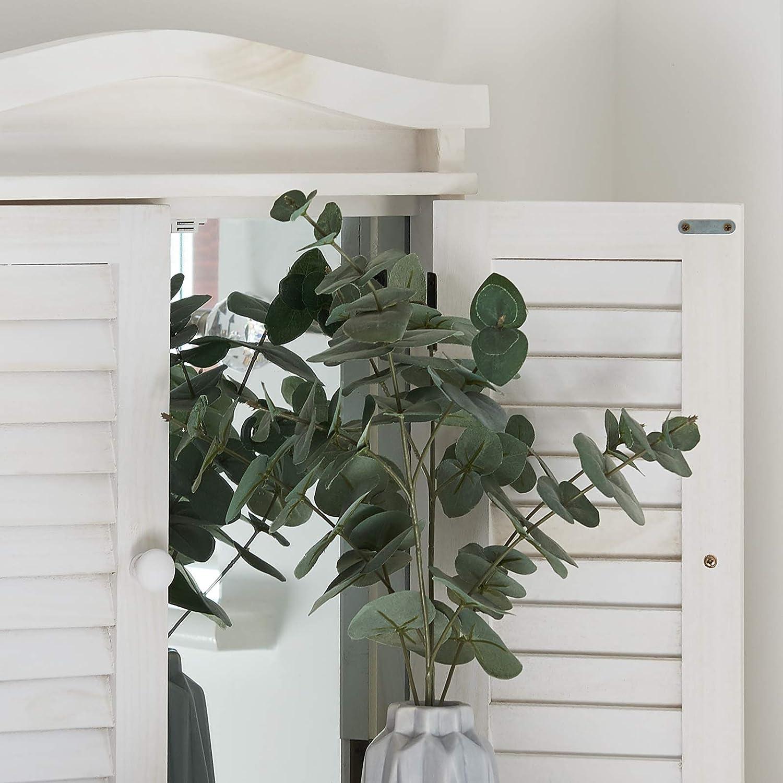 Bianco Antico Specchio a Finestra con persiane Hartleys
