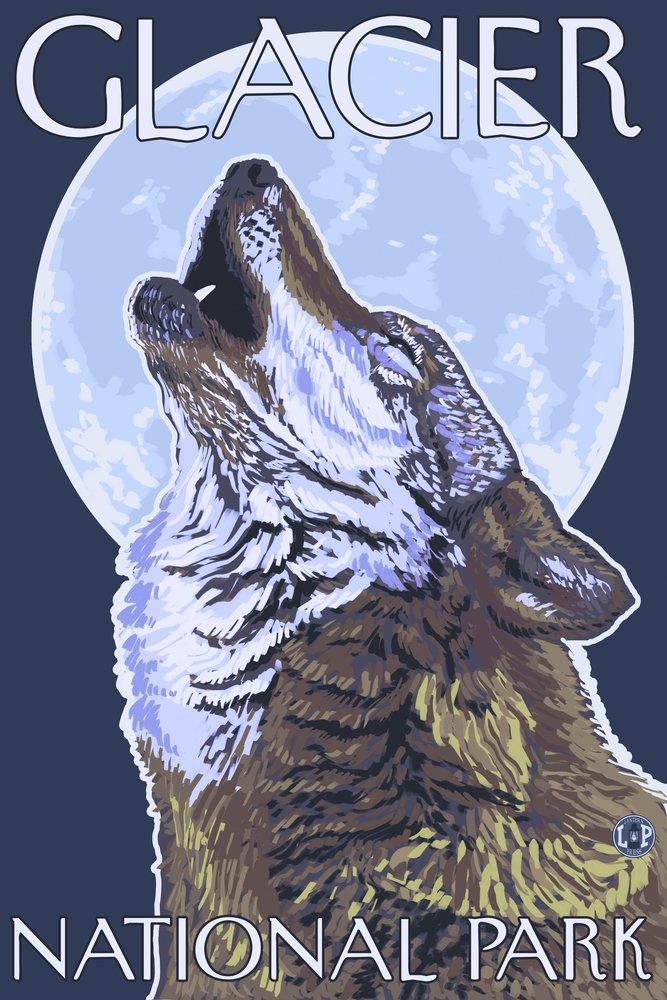 日本製 グレイシャー国立公園、MT Giclee – Print Howling Wolf Cotton Towel 36 LANT-20945-TL B00N5C8ACA 24 x 36 Giclee Print 24 x 36 Giclee Print, ムラサキスポーツ:a40c7760 --- arianechie.dominiotemporario.com