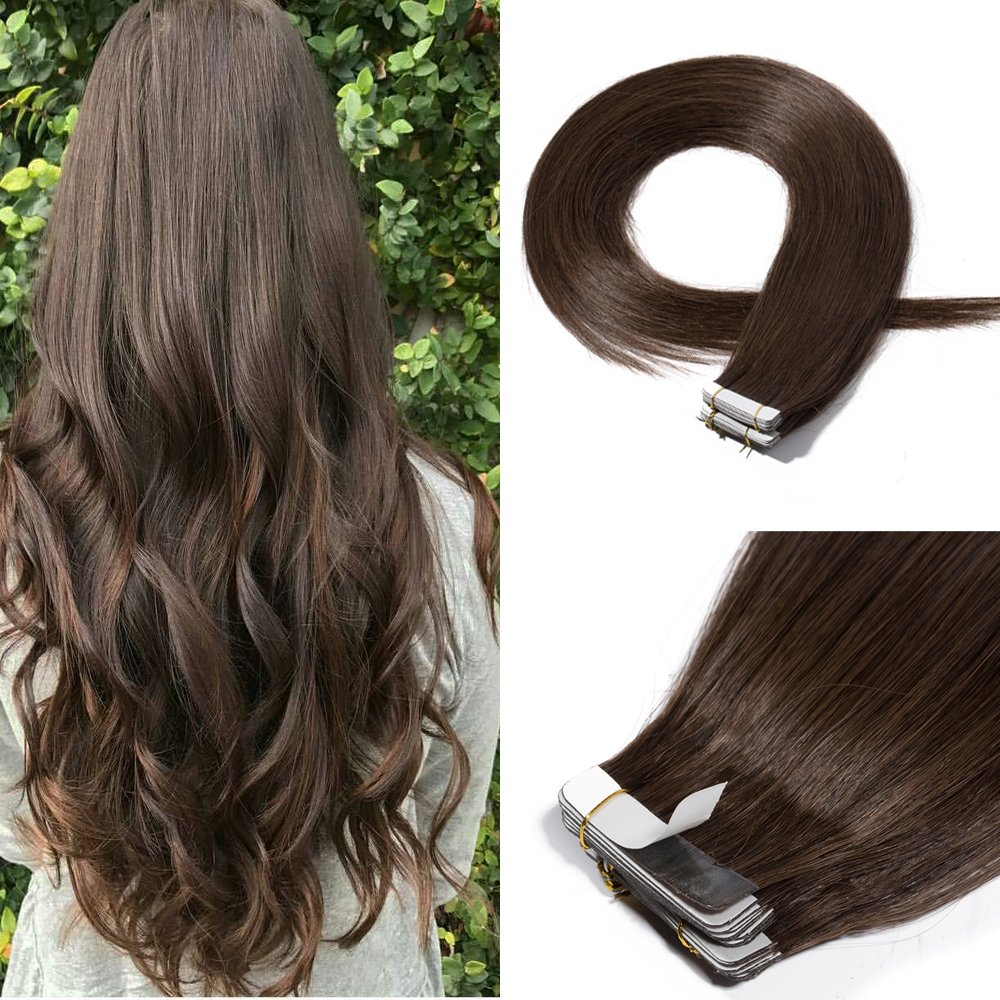 Amazon 20 30g Remy Tape In Hair Extensions Human Hair 4