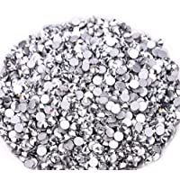 Jollin Glue Fix Crystal Flatback Rhinestones Glass Diamantes Gems for Nail Art Crafts Decorations Clothes Shoes(ss3…