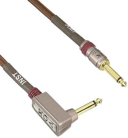Vox VAC-19BR - Cable para guitarra jack (profesional, acodado, 5.8 m