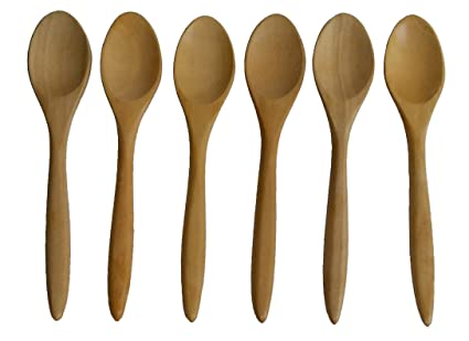 Amazoncom Bellezas Lot Of 6 Wooden Small Coffee Tea Spoons