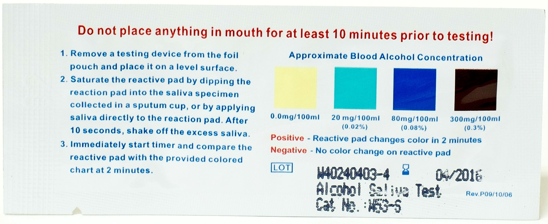 Alcohol Saliva Test Strip Kit - Instant BAC Blood Alcohol Detection in Body (Multiple Quantities)(100)