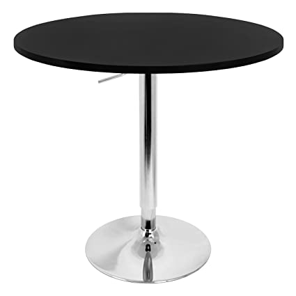 Adjustable Height Round Table.Amazon Com Round 27 Inch Bar Table With Adjustable Height Metal