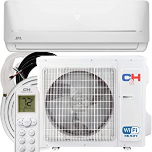 COOPER AND HUNTER 18,000 BTU, 230V Ductless Mini Split AC/Heating System Pre-Charged Inverter Heat Pump with 16ft Installation Kit