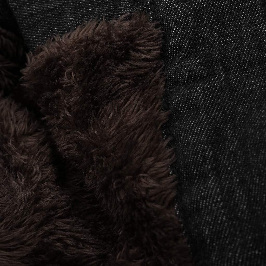 2019 Nouveau Parka Court Femme Capuche Fourrure Mode Manteau Blouson Veste en Jean Hiver Chaud Slim Bouton Noir Marron