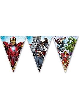 Procos guirnalda de banderines triangulares Avengers Mighty, Multicolor, 5pr87971