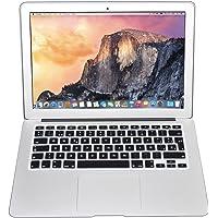 Protector Skin de Teclado para Macbook en Español compatible con: Macbook/Pro 13''/Pro 15''/Pro Retina 13''/Pro Retina 15''/Air 13'', Models: A1278/A1286/A1502/A1425/A1398/A1369/A1466 NEGRO