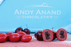 Andy Anand Milk Chocolate Cherries Delectable & Delicious- Dipped in layers of Chocolate Gift Boxed & Greeting Card for Birthday, Valentine Day, Christmas Holiday Food Gifts, Mothers day Corporate Gifts (1 lbs)