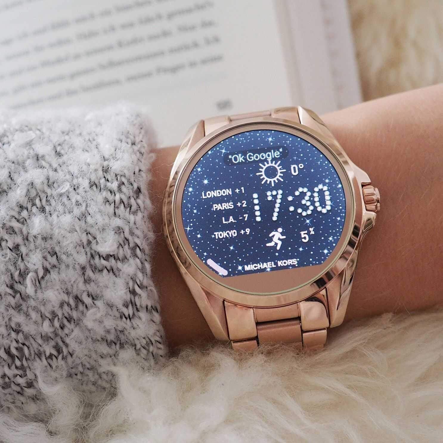 Michael Kors Access Bradshaw - Reloj inteligente (pantalla táctil, 45 mm), color dorado: Amazon.es: Relojes