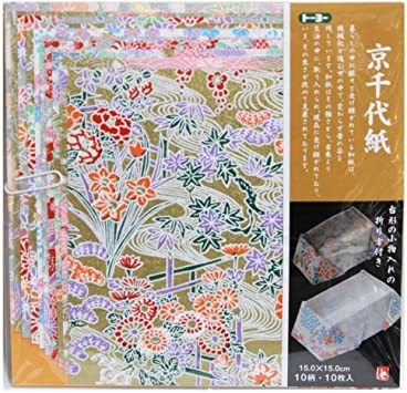 24 sheets Flower Pattern Yuzen Chiyogami Origami Paper Sheets